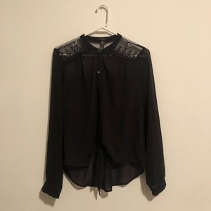 Forever 21 Tie Front Blouse